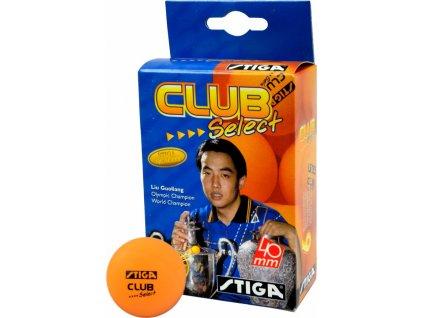 Loptičky na stolný tenis Stiga Club Select 6 kusov oranžová