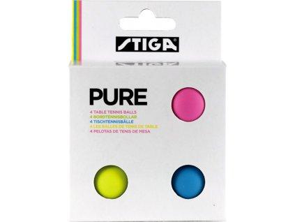 Loptičky na stolný tenis Stiga Pure color 4 kusy