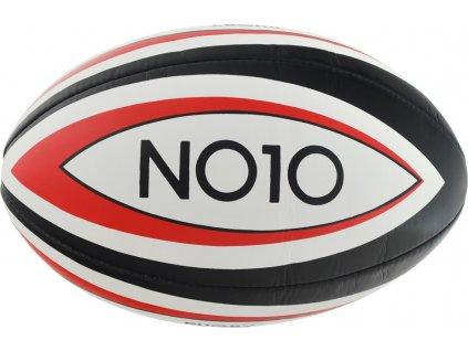 Rugby lopta NO10 Torpedobiela / červená / čierna 56073