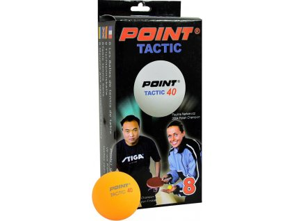 Loptičky na stolný tenis Point Tactic oranžová 8 kusov