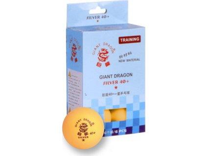 Loptičky na stolný tenis SMJ Silver Star 6 kusov oranžová  8341