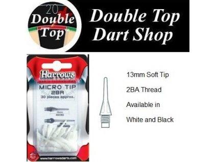 Softips Harrows Spare Micro Tip čierna / biela 30 kusov