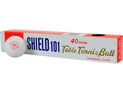 Loptičky na stolný tenis Shield biele 6 kusov