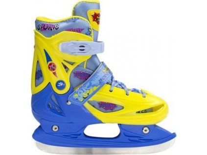 hokejové korčule Nils Extreme Yellow/Blue r.31-34 NH1105