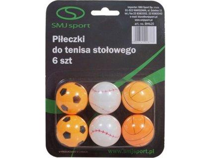 Loptičky na stolný tenis Smj 6 kusov BM620