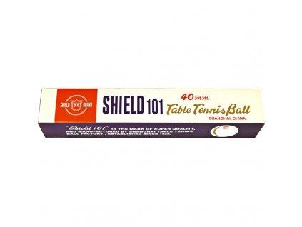Loptičky na stolný tenis Shield 6kusov oranžová