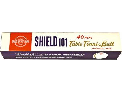Loptičky na stolný tenis Shield 6kusov biela