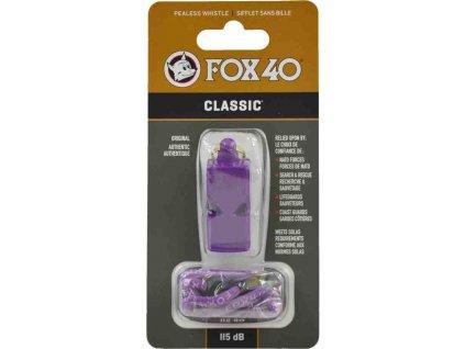 Píšťalka Fox 40 Classic fialová + šnúrka  9903-0808