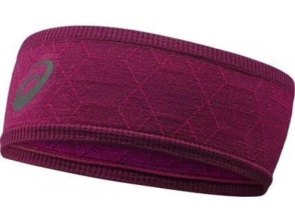 Čelenka Asics Headband Graphic fialová 146818 0290