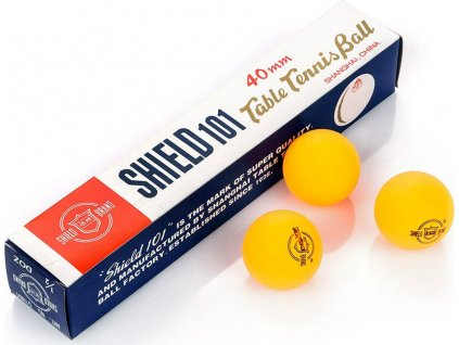 Loptičky na stolný tenis Shield oranžová 6 kusov