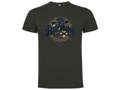 Pánske tričko Real, tmavo sivé, veľkosť M