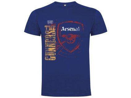Pánske tričko Arsenal retro, kráľovsky modré, veľkosť 2XL