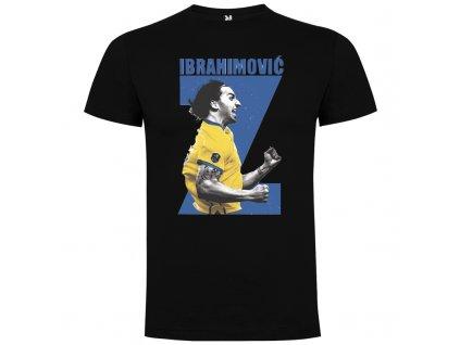 Pánske tričko Ibrahimovič, čierne, veľkosť M