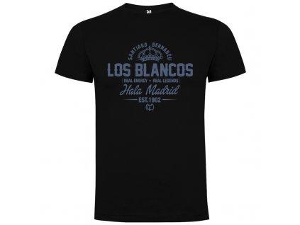 Pánske tričko Los blancos, čierne, veľkosť XL