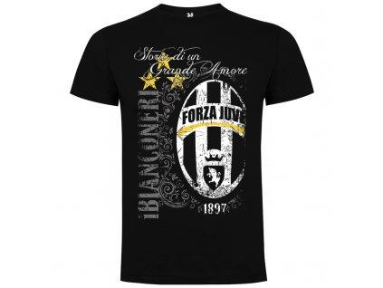 Pánske tričko Juve retro, čierna, veľkosť S