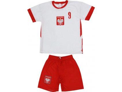 Detský set Replika Polska 2020 Lewandowski biela / červená