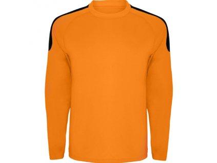 Brankársky dres + Spider, oranžová / čierna, veľkosť L
