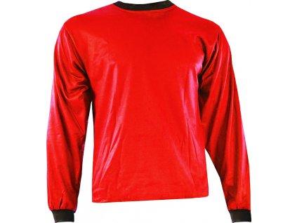 Brankársky dres Akcent s potlačou 1, červená, veľkosť M