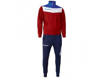Tréningová súprava Tuta Campo, červená / modrá, veľkosť XL