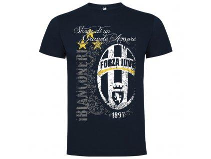 Pánske tričko Juve retro, tmavomodrá, veľkosť M