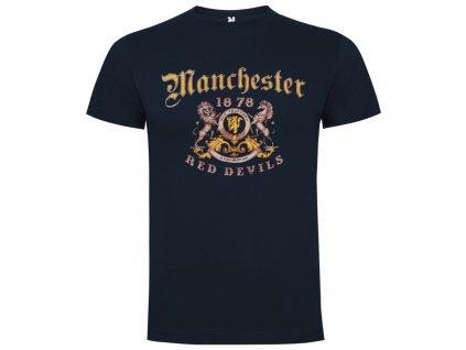 Pánske tričko Manchester red devils, tmavomodrá, veľkosť L