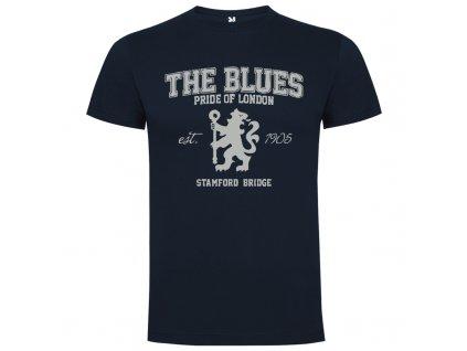Pánske tričko The blues retro, kráľovsky modré, veľkosť L