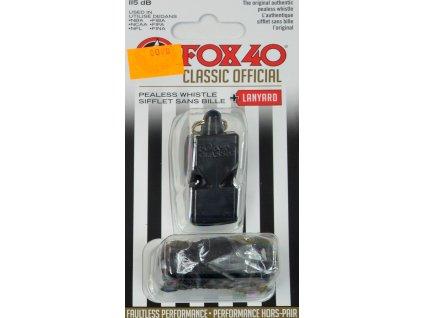 Píšťaľka so šnúrkou Fox 40 Classic  441414 9901-0008