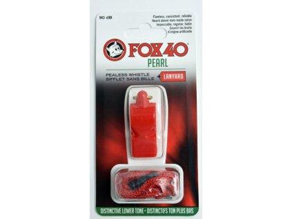 Píšťaľka FOX 40 Pearl + sznurek 9703-0108 červená