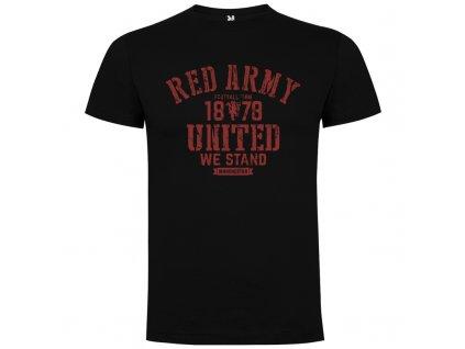 Pánske tričko Manchester red army, čierne, veľkosť 3XL