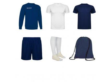 Tréningový box superfutbal spring, 6 kusový, tmavo modrá biela farba