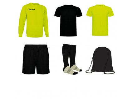 Tréningový box superfutbal spring, 6 kusový, žltá neónová čierna farba