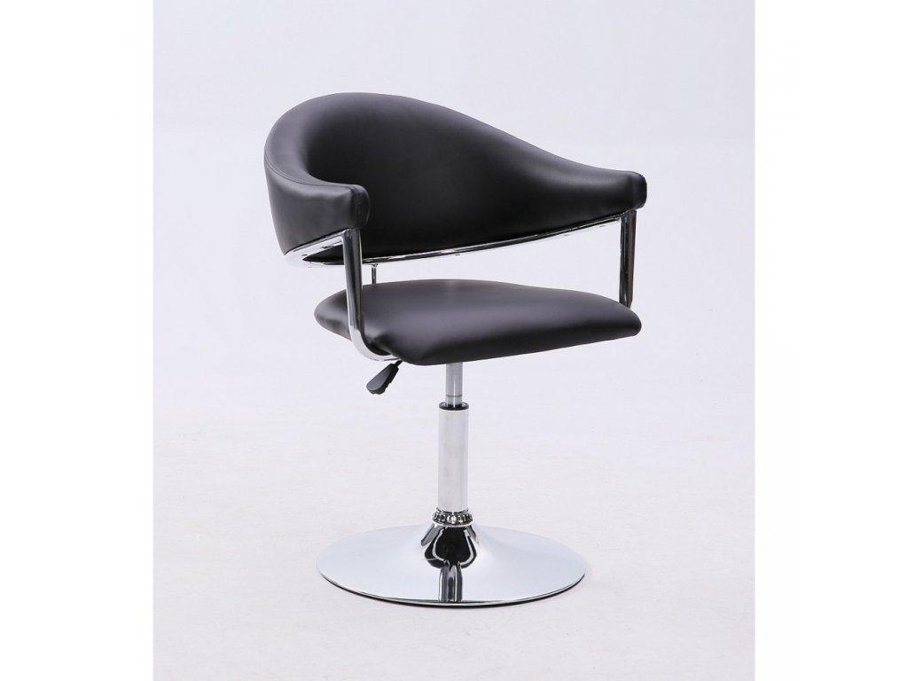 Kosmetická židle BERLIN na kulaté podstavě - černá