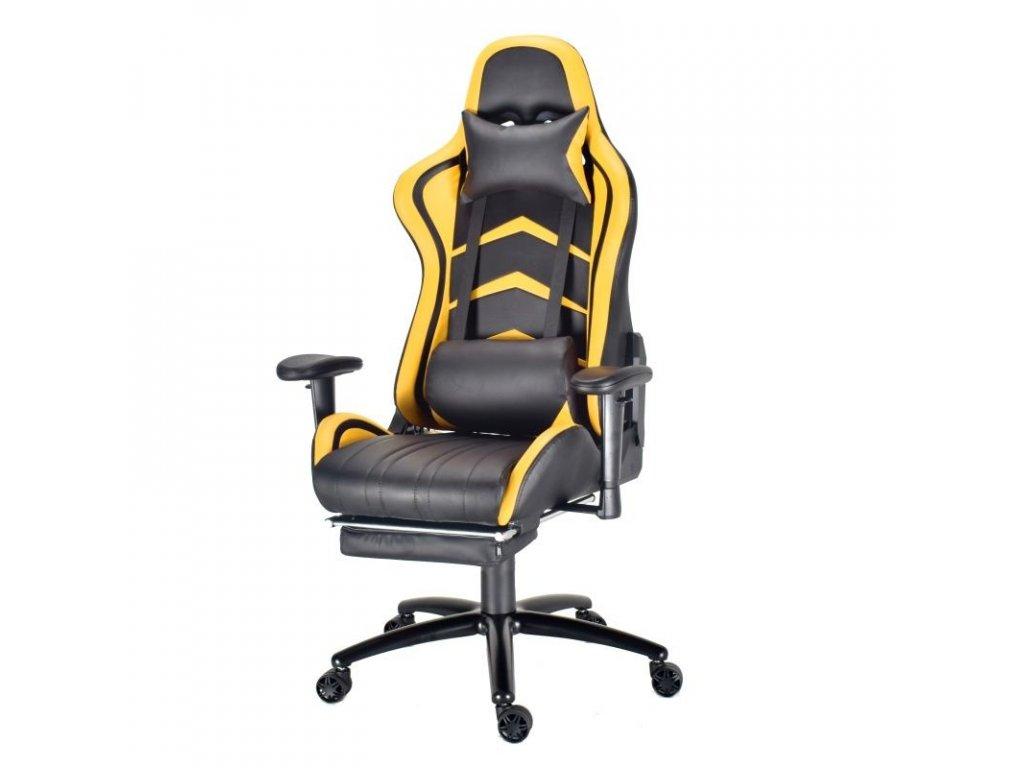 Herní křeslo MONZA Premium - žluté