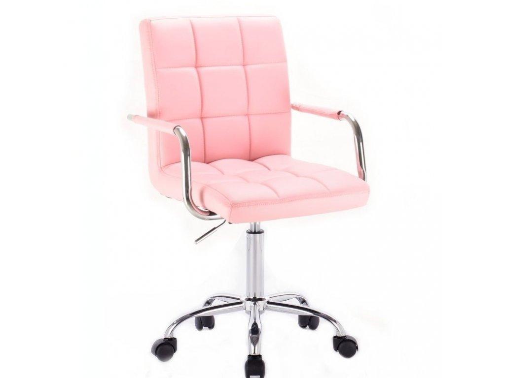 Židle na základní kolečkové podstavě VERONA - růžová