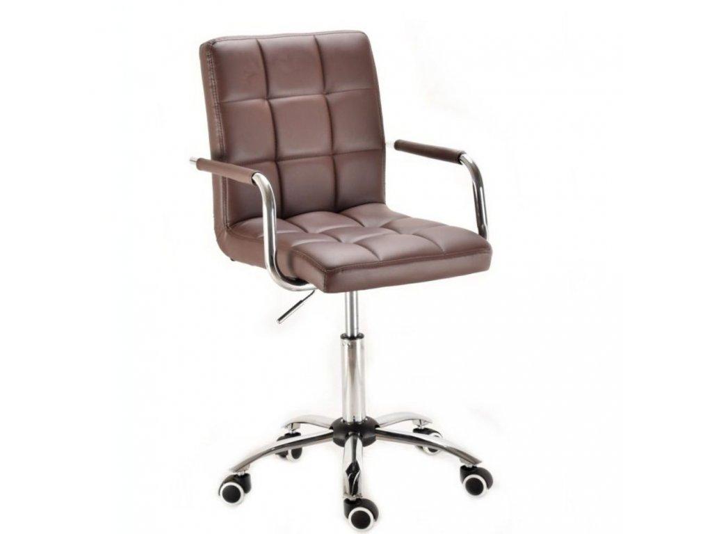 Židle na základní kolečkové podstavě VERONA - hnědá