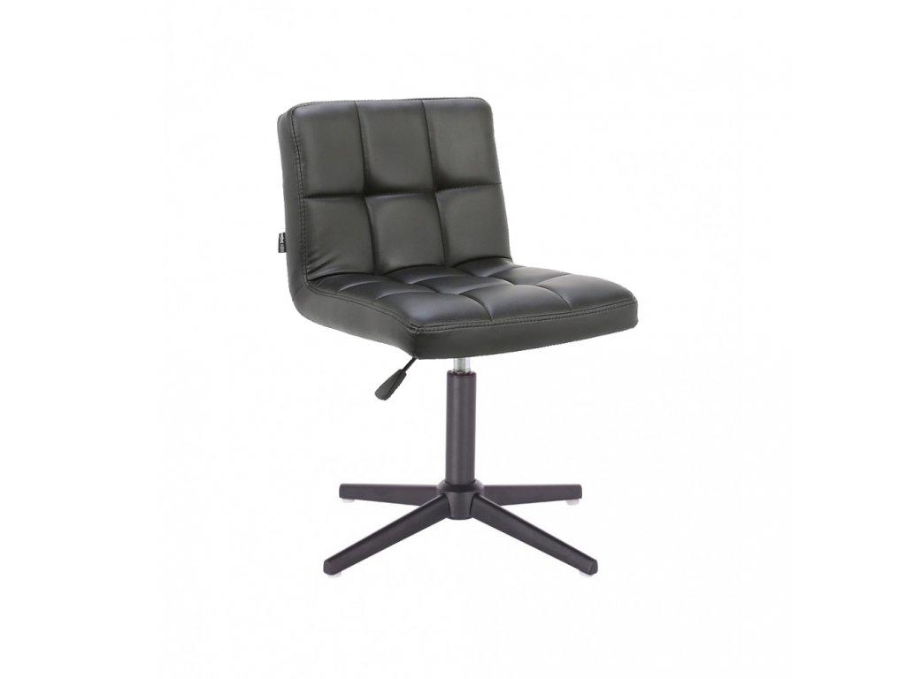 Židle SAVONA na černé křížové podstavě - černá