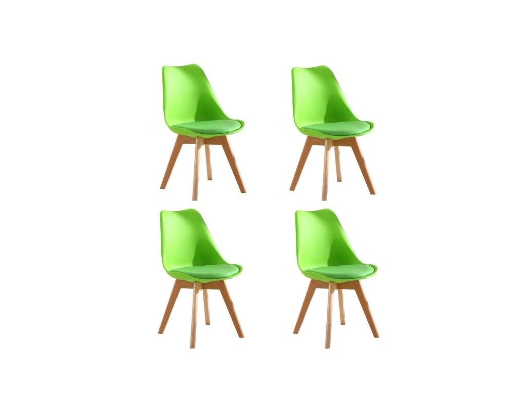 Jídelní židle PORTO - zelená (sada 4ks)