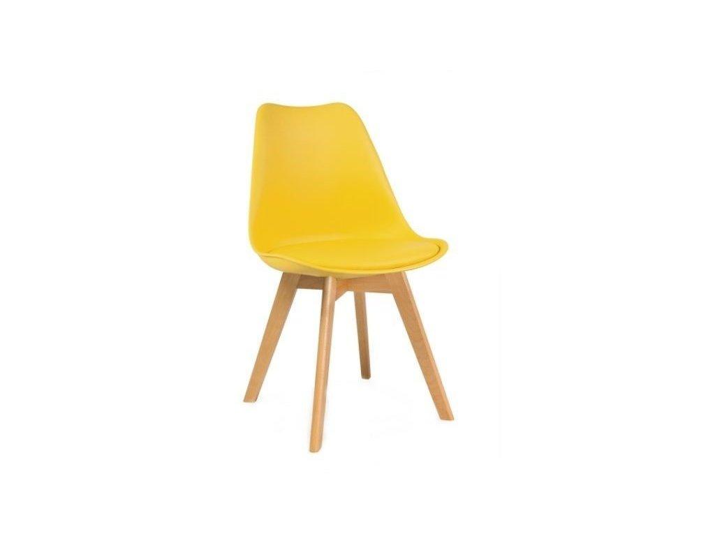 Jídelní židle PORTO - žlutá