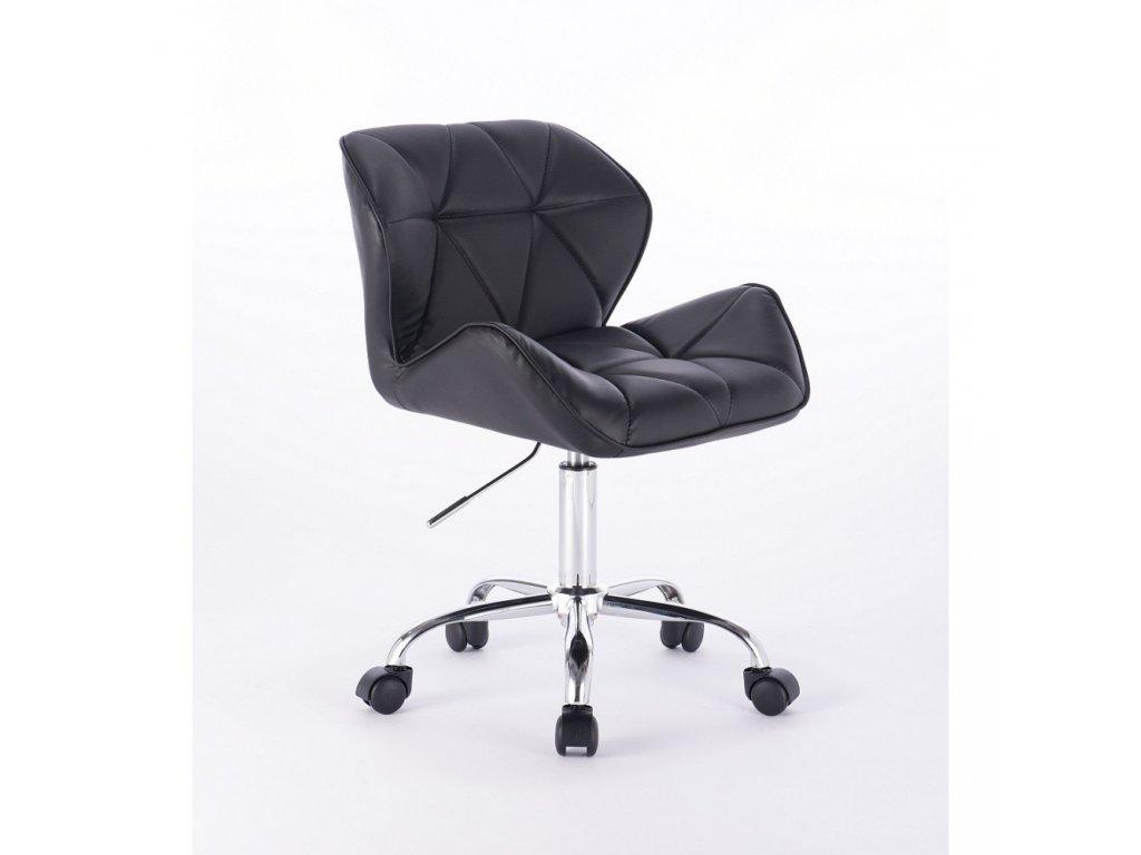 Kosmetická židle MILANO na základní podstavě s kolečky - černá