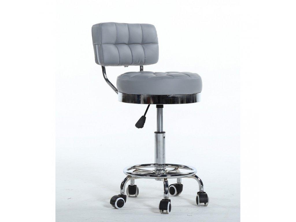 Pracovní židle / taburet LEON - šedá