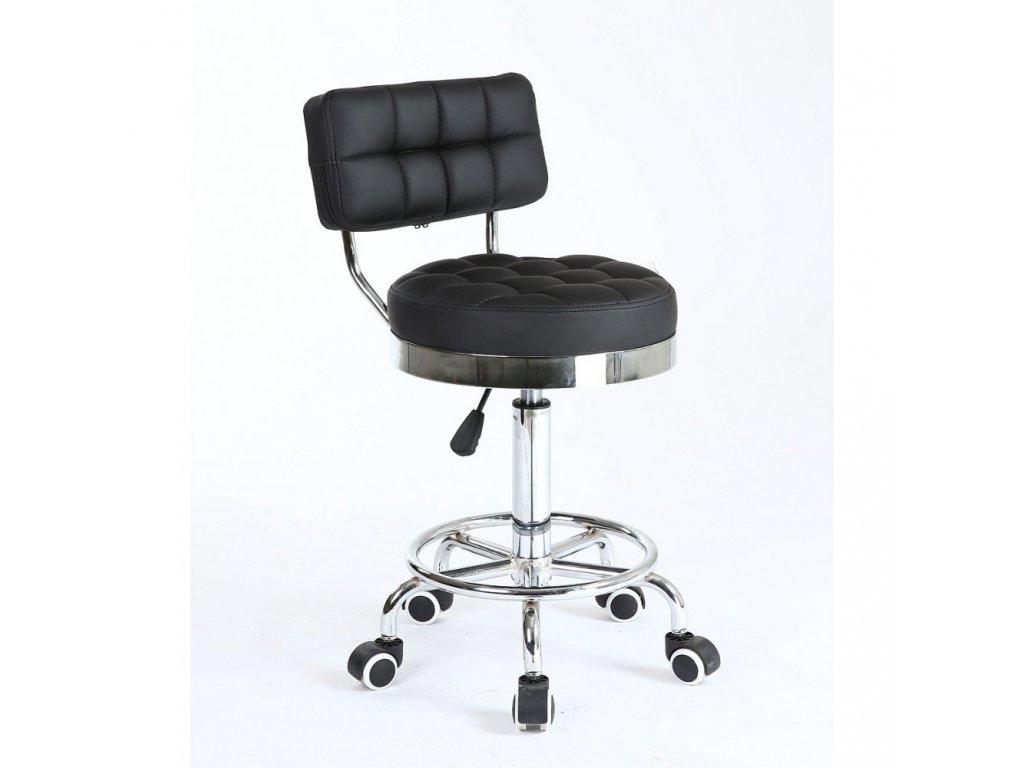 Pracovní židle / taburet LEON - černá