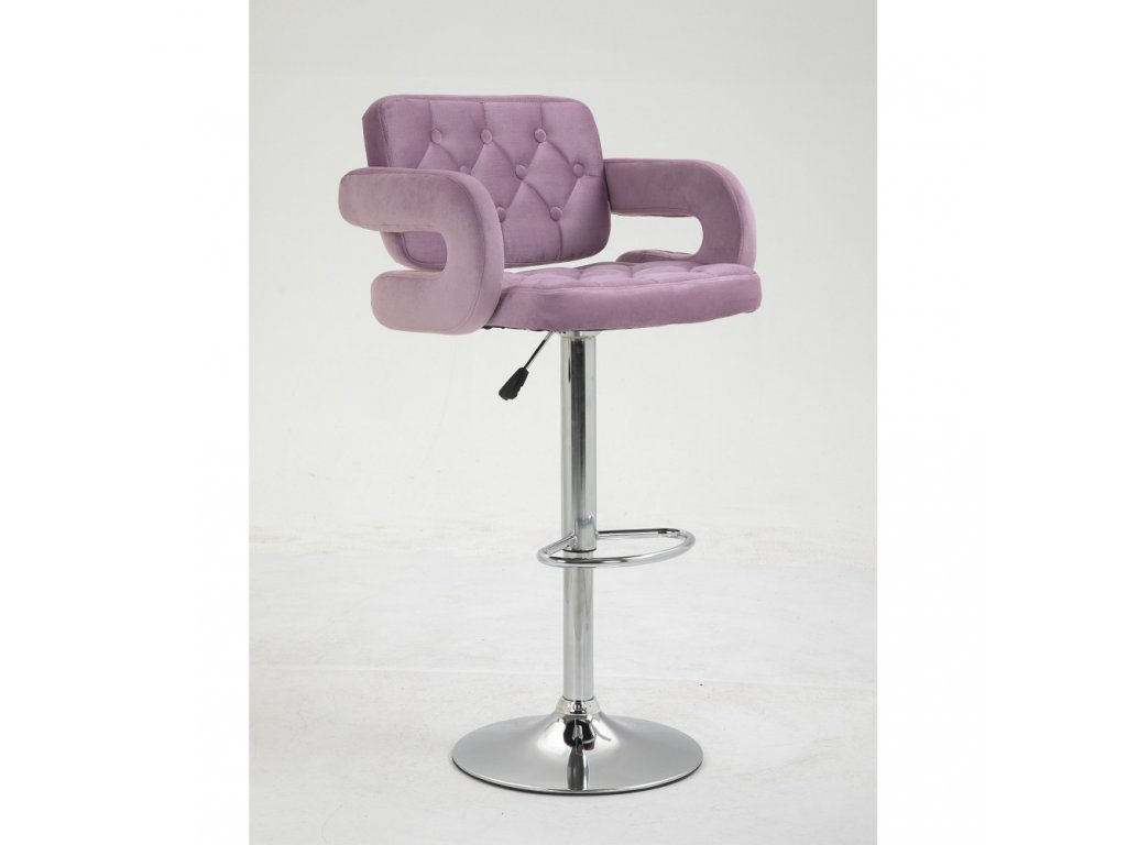 Barová židle Stockholm - vřesový velur