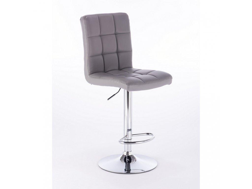Barová židle TOLEDO - šedá
