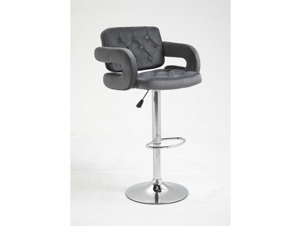 Barová židle Stockholm - grafitový velur
