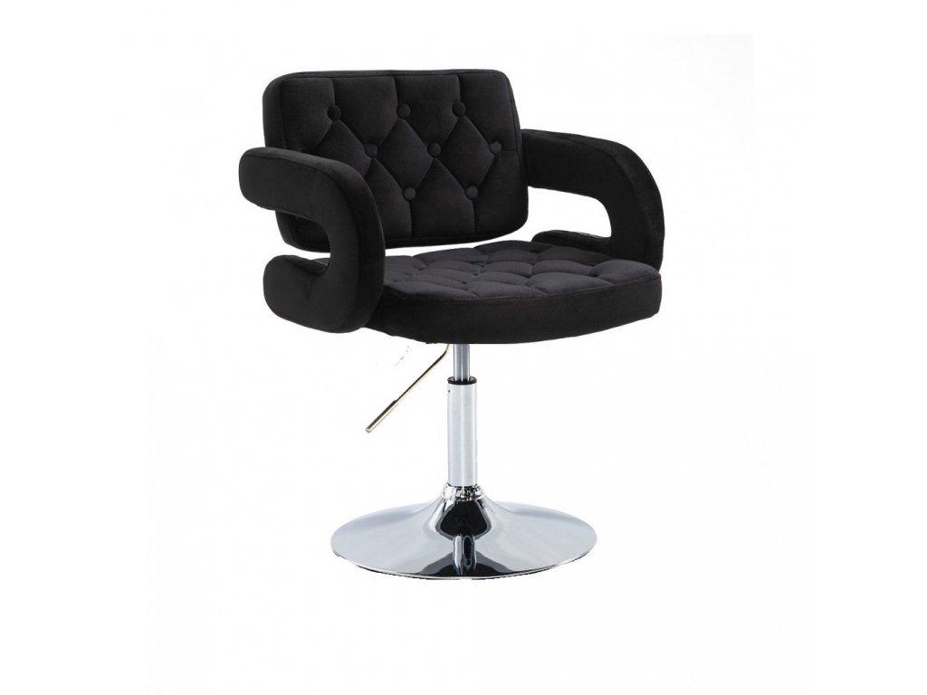 Židle na kulaté podstavě Stockholm - černý velurb3