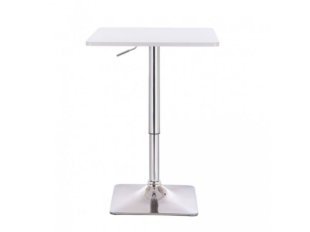 Barový stolek ALABAMA - bílý - zvrchu