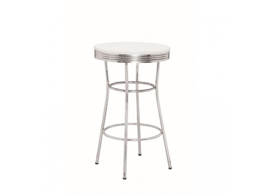 Barový stolek TAMPA - bílý