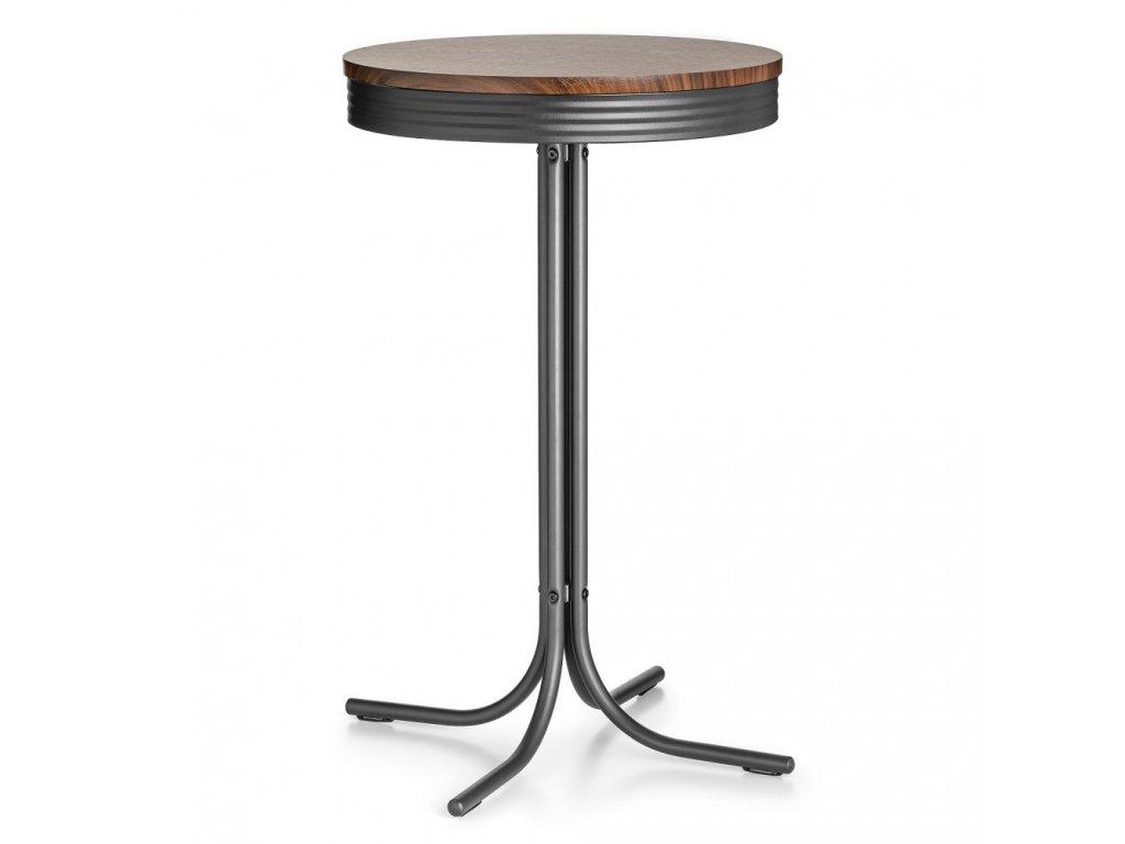 Barový stolek RENO - černo-hnědý