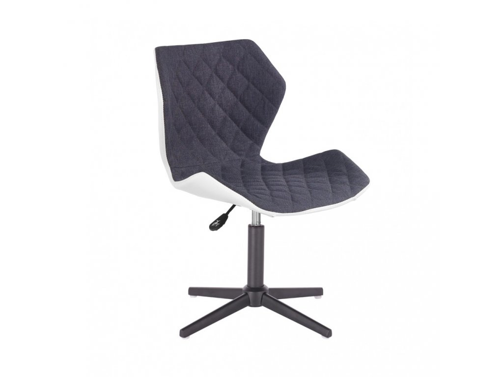 Židle MATRIX na černé čtyřramenné podstavě - šedá