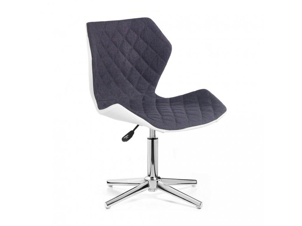 Židle MATRIX na stříbrné čtyřramenné podstavě - šedá